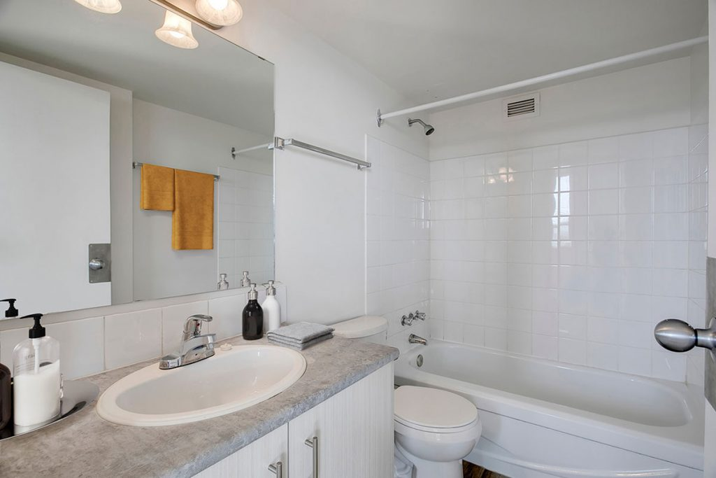 Bathroom at Westview Heights Apartments Calgary AB