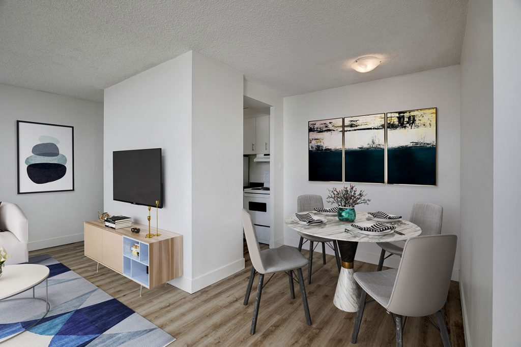 Dining room at Westview Heights Apartments Calgary AB