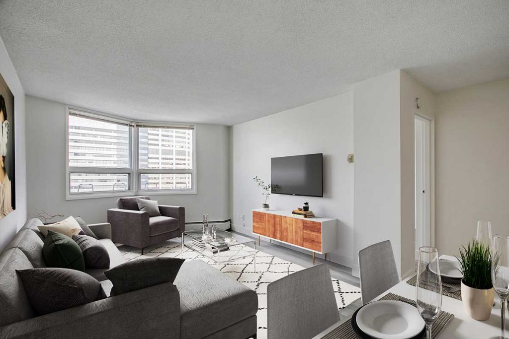 Living room at Westview Heights Apartments Calgary AB